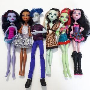 SOLD Mattel Monster High Dolls Lot of 6,